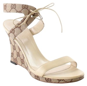 Gucci Beige Wedges