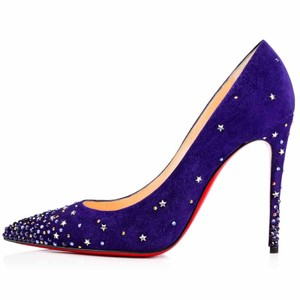 Christian Louboutin Gravitanita Stiletto Pigalle Crystal Strass purple Pumps