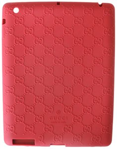Gucci GUCCI SSIMA IPAD CASE IN BOX BURGUNDY RED SILICONE RUBBER GUCCI LOGO