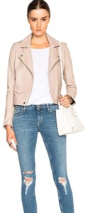 IRO beige skin cream Leather Jacket