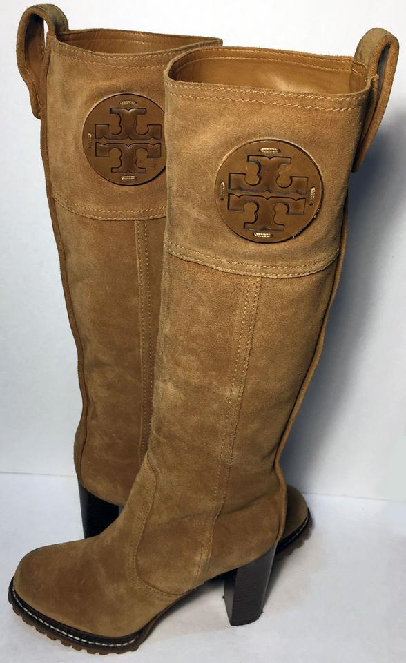 992afeb77 Tory Burch Brown Claudia Suede Riding Equestrian Women Boots Booties ...