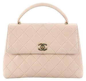 Chanel Lambskin Satchel in Light Blush