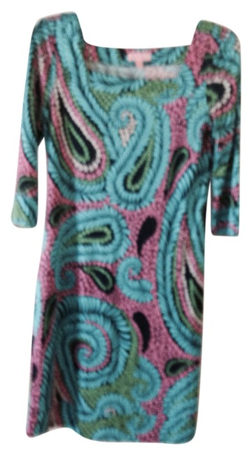 Preload https://item5.tradesy.com/images/lilly-pulitzer-blue-pink-white-green-silk-shift-pattern-above-knee-workoffice-dress-size-4-s-2244139-0-0.jpg?width=400&height=650