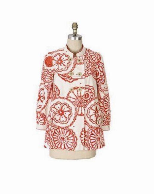 Item - Cream/Red By Elevenses Floral Coat Size 8 (M)