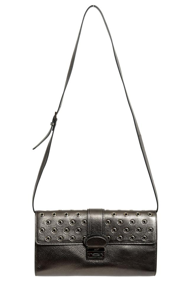 61094d887f RED Valentino Women's Shoulder Gray Leather Clutch - Tradesy