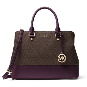Michael Kors Satchel in Brown/Damson