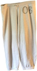 Aerie Logo Fleece Lining Drawstring Relaxed Pants Cream