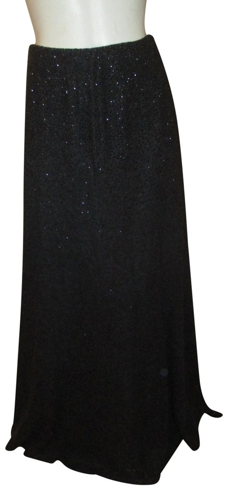 enjoy discount price latest sale footwear Charcoal Grey Vintage Sparkly Knit Maxi Skirt Size 4 (S, 27)