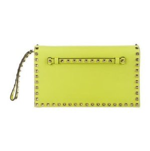 Valentino neon yellow Clutch