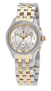 Michele $2195 Belmore Chrono Diamond, Two Tone Dial Michele MWW29B000006