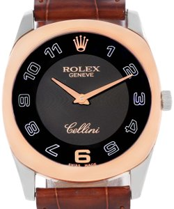 Rolex Rolex Cellini Danaos 18k White and Rose Gold Black Dial Watch 4233