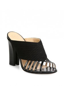 Tory Burch Mule Leather black Sandals