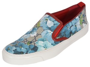 Gucci Sneakers Blooms Slip On Blue Multi Flats