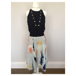 Zara Skirt Light Blue/ navy/coral