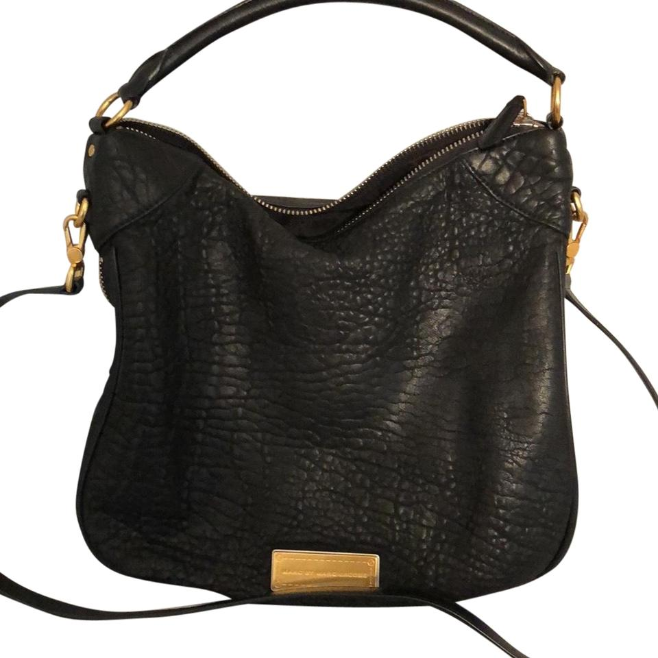 636a262082 Marc by Marc Jacobs Washed Up Billy Black Leather Hobo Bag - Tradesy