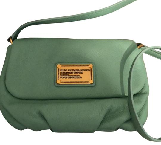 Preload https://img-static.tradesy.com/item/22443059/marc-by-marc-jacobs-flap-percy-leather-minty-cross-body-bag-0-1-540-540.jpg