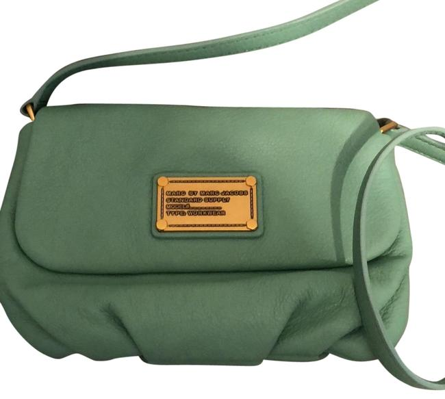 Marc by Marc Jacobs Flap Percy Leather Minty Cross Body Bag Marc by Marc Jacobs Flap Percy Leather Minty Cross Body Bag Image 1