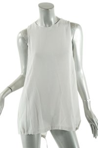 Brunello Cucinelli Silk Drawstring Top Oatmeal