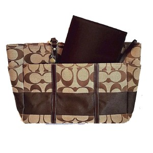 Coach Brown Diaper Bag