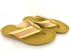 Louis Vuitton Rubber Flip Flop Thong Yellow Sandals