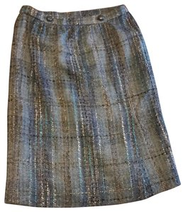 Chanel Skirt Blue Tweed