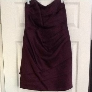 David's Bridal Plum/deep Purple Dress