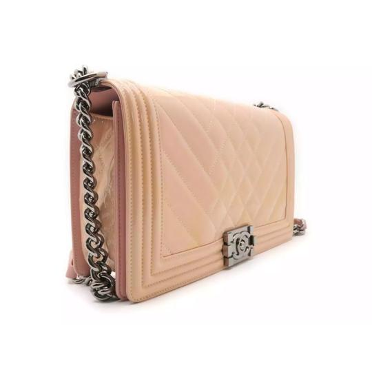 07c79cdd5550b8 Chanel Boy Medium Quilted Crossbody Chain Pink Patent Leather Shoulder Bag  - Tradesy