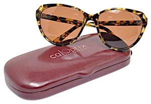 Cole Haan COLE HAAN Brown Tortoise Frame SUNGLASSES with Brown Lens