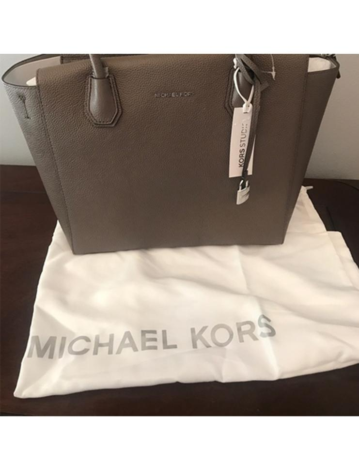 e9f9d526182b Michael Kors Studio Mercer Cinder Leather Satchel - Tradesy
