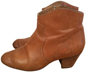 Isabel Marant French Western Cowgirl Vintage Leather cognac Boots