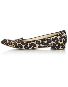 Manolo Blahnik Ponyhair Leopard Loafers brown Flats