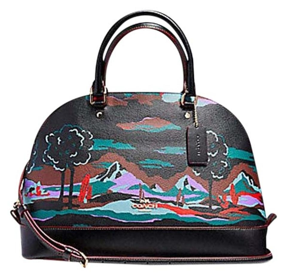 cf06b78c72e0 Coach Sierra In Landscape Print Multicolor Leather Satchel - Tradesy