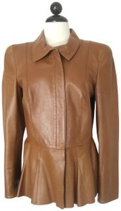 Salvatore Ferragamo Leather Camel Jacket