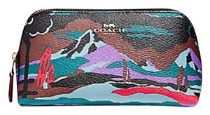 Coach COSMETIC CASE 17 IN LANDSCAPE PRINT COATED CANVAS F13527 f 13528