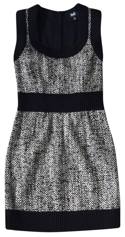 Beige Dress amp;Gabbana Fall Dolce and Black Tweed Casual UnPwPqZ1g