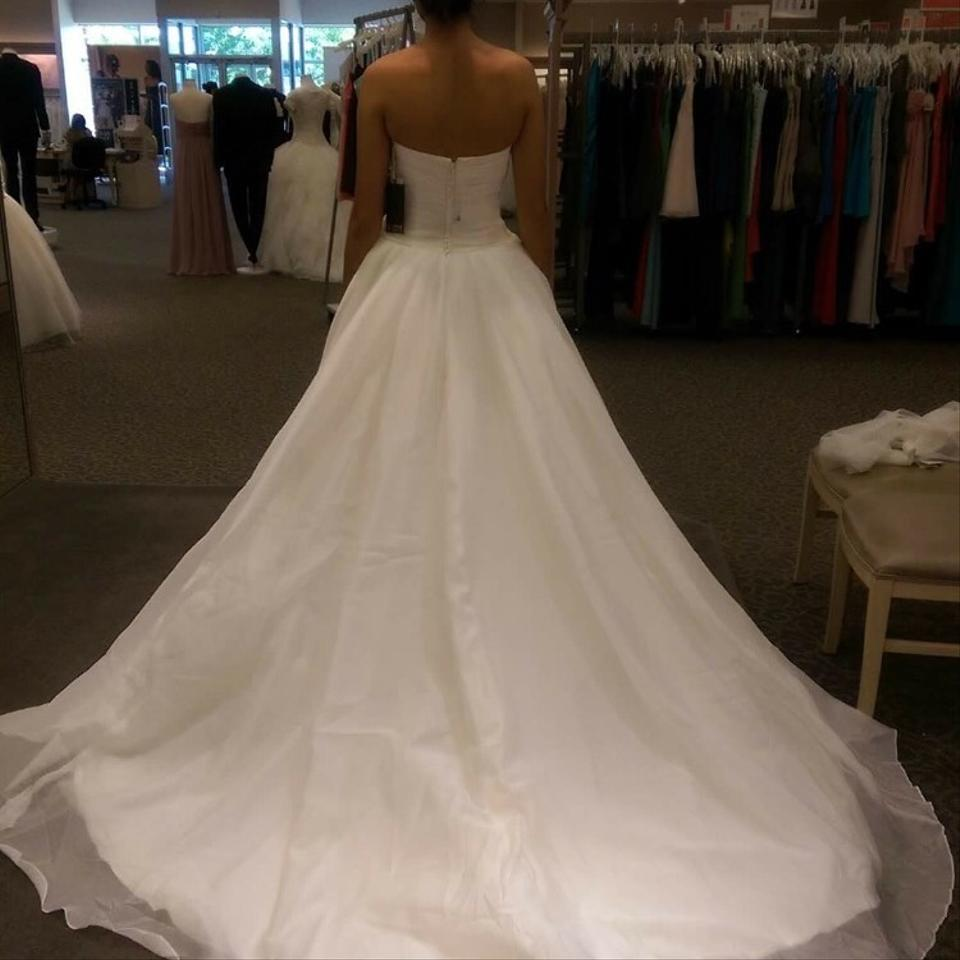 Vera wang bridal ivory organza ball gown formal wedding for Vera wang wedding dress used