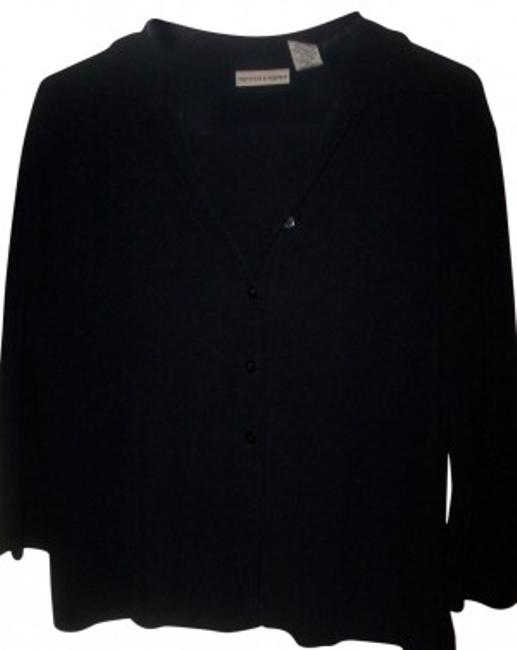 Preload https://item1.tradesy.com/images/apostrophe-black-34-sleeve-w-buttons-blouse-size-8-m-22445-0-0.jpg?width=400&height=650
