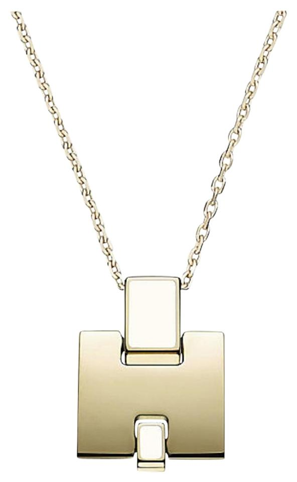 Herms gold tone new lacquered pendant plated hardware necklace hermes h lacquered pendant gold plated hardware aloadofball Image collections