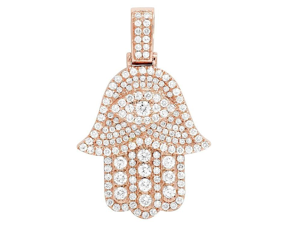 Jewelry unlimited 14k rose gold diamond iced evil eye hamsa hand jewelry unlimited 14k rose gold diamond iced evil eye hamsa hand pendant 3 ct 15 aloadofball Choice Image