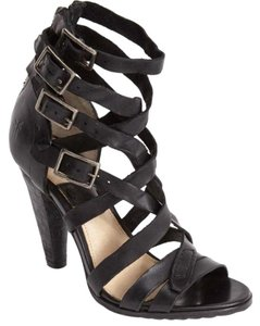 Frye Mika Leather Black Sandals
