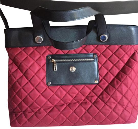 Knomo Quilted Red Nylon Laptop Bag Tradesy