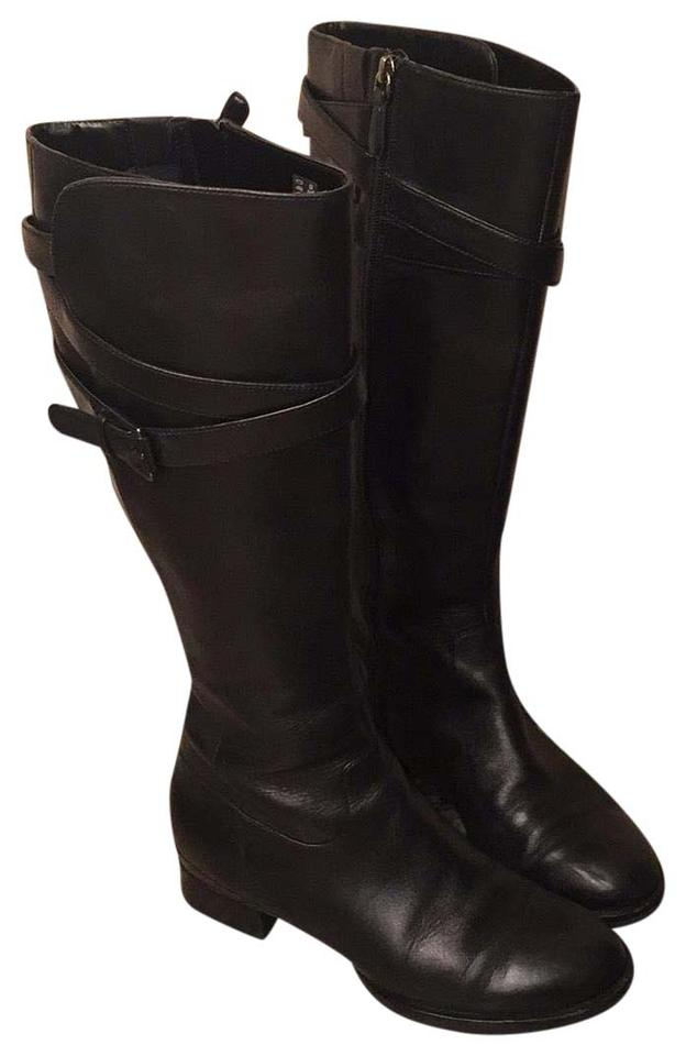 7bb91afe1ab Ecco Black Knee-high Leather Boots Booties Size US 7 Regular (M