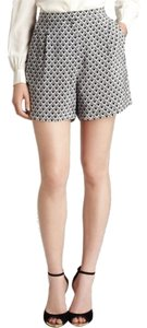 Reiss Silk Dress Shorts Black and white