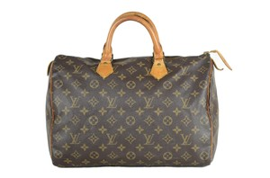 LOUIS VUITTON Lv Speedy Monogram Tote in Brown