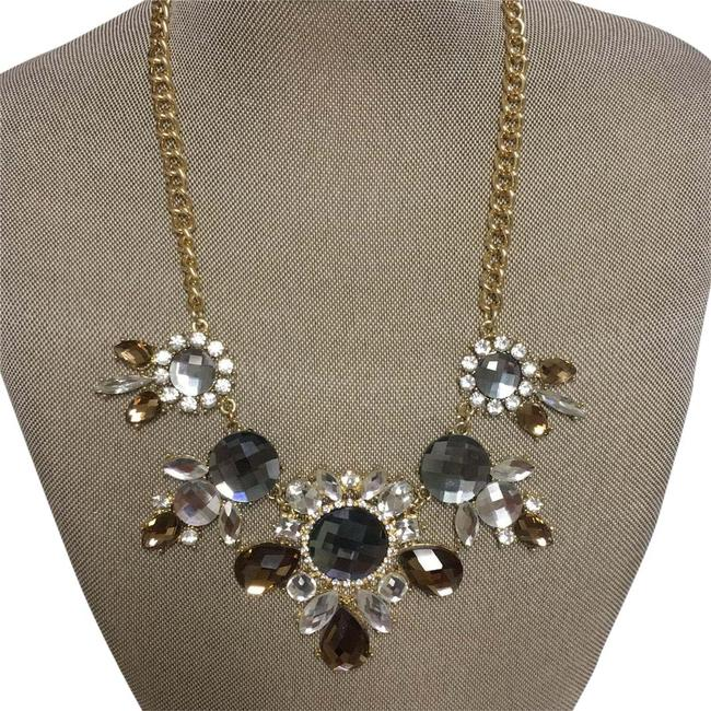 Item - Gold Brown and Grey Necklace
