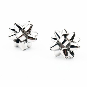 Kate Spade NEW Kate Spade New York Bourgeois Bow in Silver Rhodium Stud Earrings