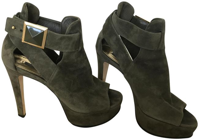 Item - Dark Green Box Suede Leather Ankle with and Dustbag Boots/Booties Size US 7 Regular (M, B)