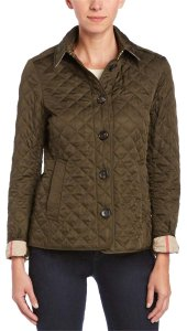 Burberry Quilted Classic Dark Olive Jacket