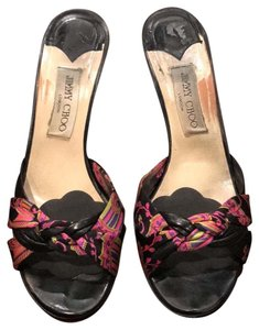 Jimmy Choo black multi Sandals