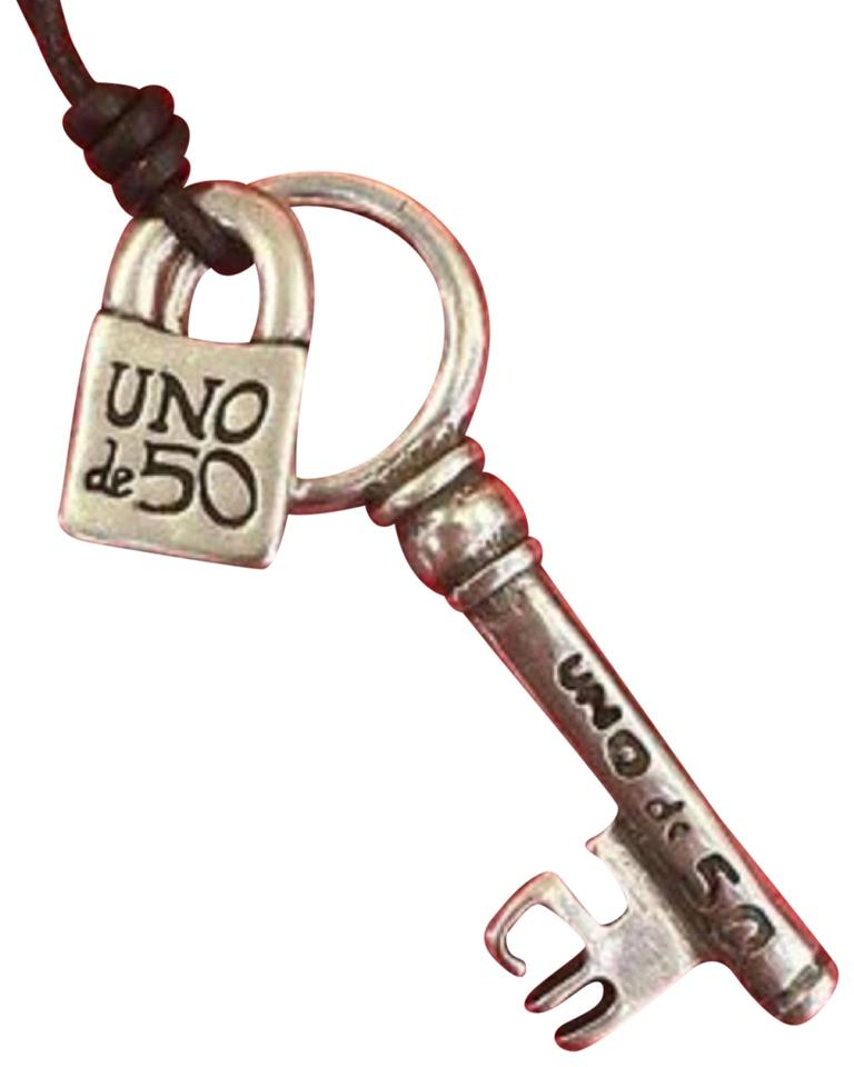 UNOde50 Silver Key And Lock Necklace